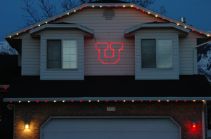 Lighted College Logos For Game Day Displays